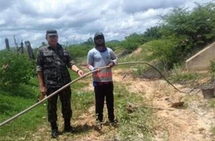 Agespisa faz operação de combate ao roubo de água em adutora