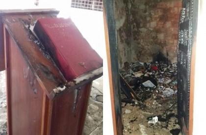 Bandidos roubam, depredam e incendeiam igreja no sul do...