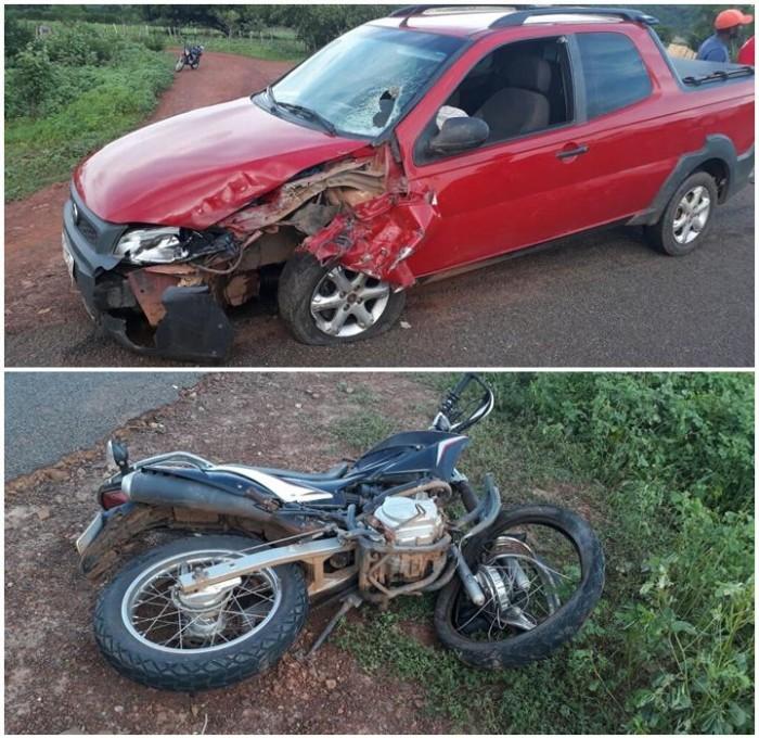 Colisão entre carro e motocicleta deixa uma homem morto no Piauí