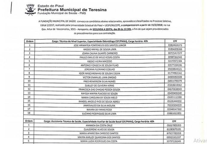 FMS convoca 179 aprovados em Processo Seletivo