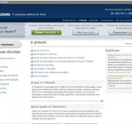 Inscrições para o Prouni encerram às 23h59...