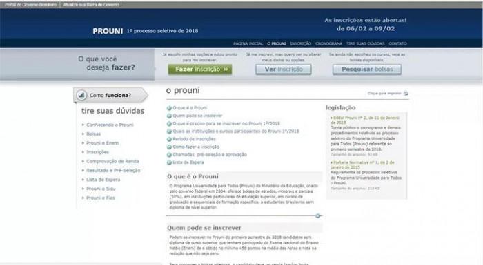 Inscrições para o Prouni encerram às 23h59 desta sexta (09)