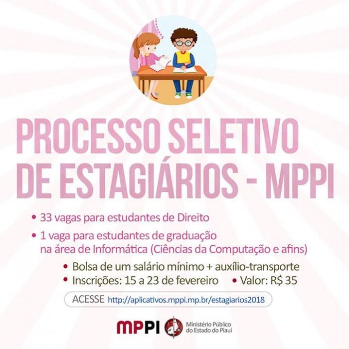 MP lança processo seletivo para estágio em Direito e Informática
