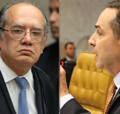 Barroso e Gilmar Mendes discutem e sessão...