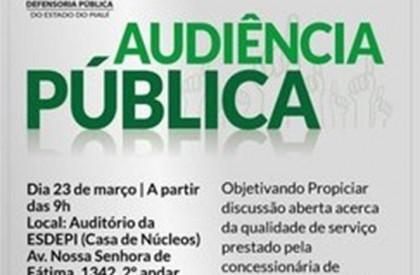 Defensoria realiza audiência para discutir prestação de serviços da Eletrobras