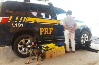 Homem é preso com quase 30 kg de cocaína...