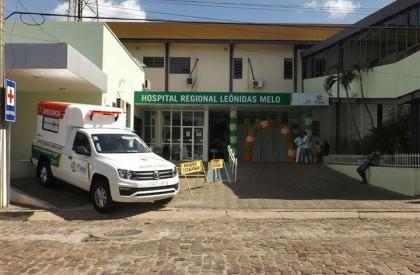 Hospital Regional Leônidas Melo recebe equipamentos e uma ambulância nova