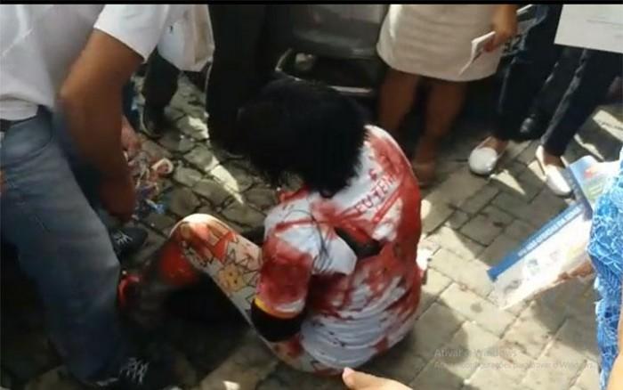 Mulher é esfaqueada pelo ex-marido no centro de Teresina