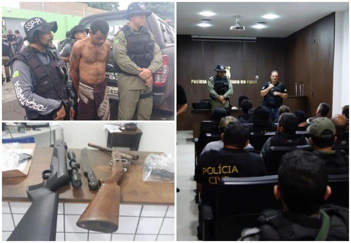 Operação prende 11 acusados de homicídios e roubos em THE
