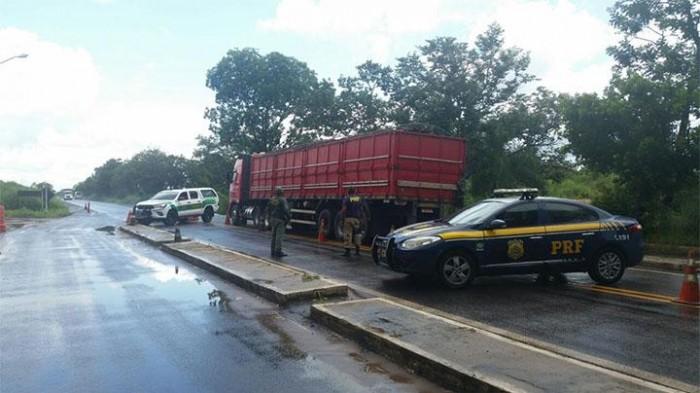 Caminhão com 12 toneladas de madeira ilegal é apreendido