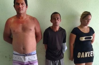 Polícia prende três pessoas acusadas de tráfico de drogas...