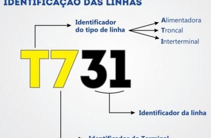 Strans divulga novo padrão de identificação de linhas de ônibus