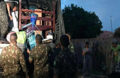 45 famílias já foram retiradas das áreas de risco...