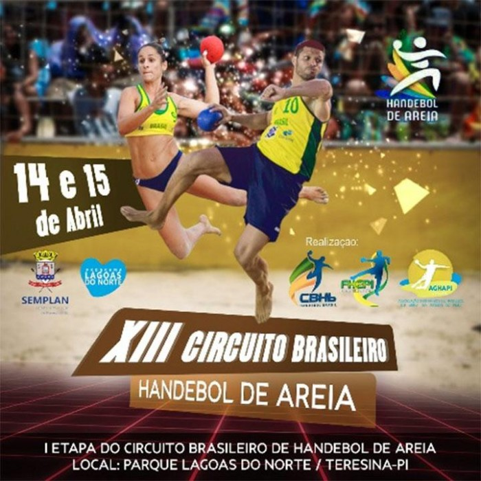 Equipes do Piauí participam do XIII Circuito Brasileiro de Handebol de Areia