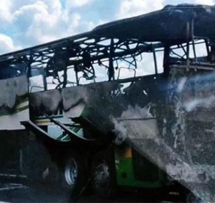 Ônibus incendeia em trecho da BR-343 entre...