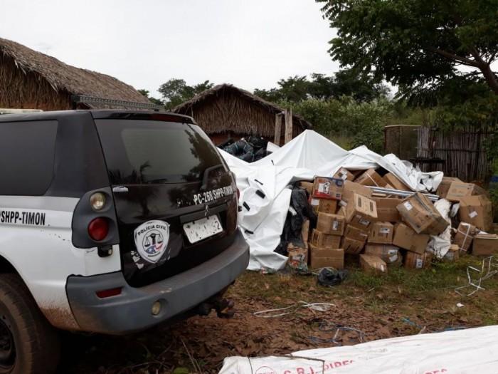 Polícia recupera carga roubada em sítio na zona rural de Timon