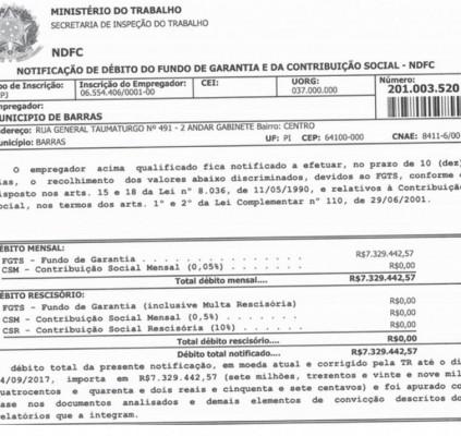 Barras: Ex-gestores deixaram de repassar R$ 7...