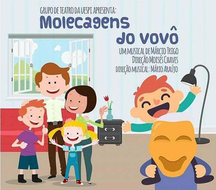 """Espetáculo """"As molecagens do vovô"""" será apresentado na Praça dos Orixás"""