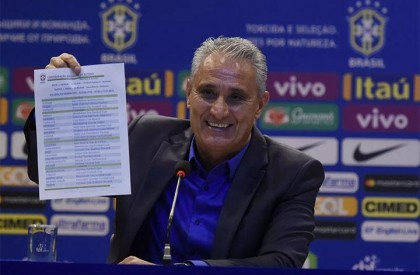 Tite anuncia os 23 convocados para a Copa do Mundo