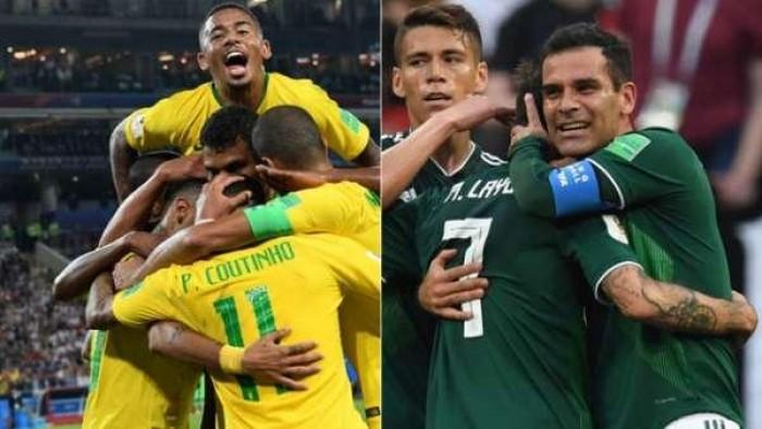Brasil enfrenta o México por uma vaga nas quartas de final