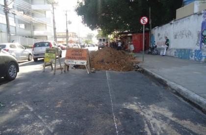Começa implantação de faixas exclusivas no corredor Norte
