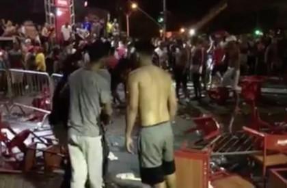 Comemoração da copa termina em confusão e um é preso