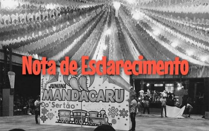 Mandacaru do Sertão nega envolvimento em confusão durante Cidade Junina São Jacó