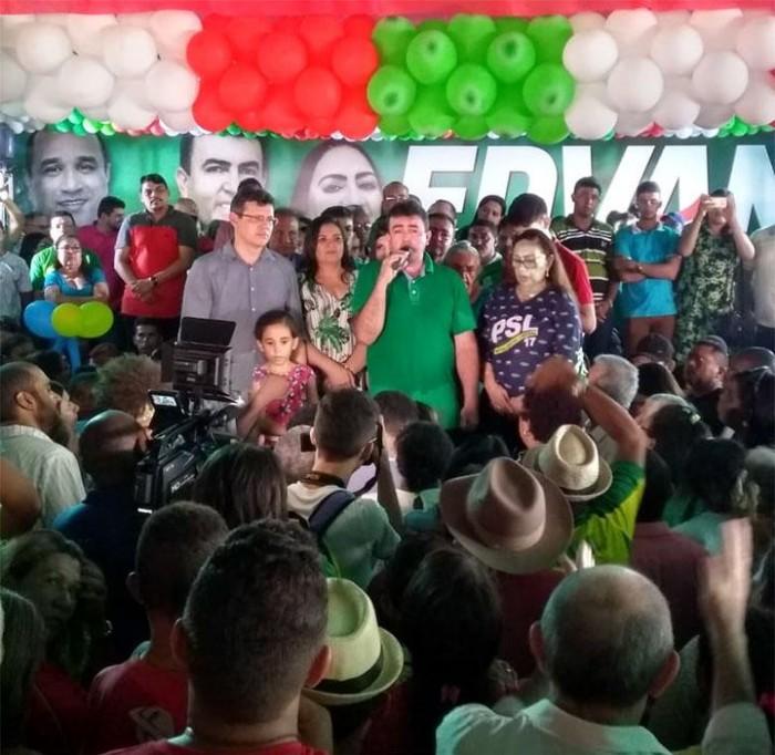 Bacabal para durante convenção do prefeito Edvan Brandão