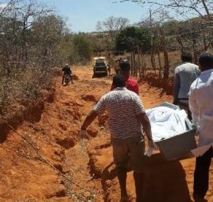 Corpo é encontrado parcialmente enterrado no sul...