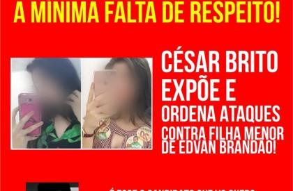 Aliados de César Brito afrontam a lei em ataque a adolescente na web