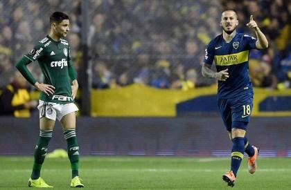Boca faz dois, triunfa e complica Palmeiras na Libertadores