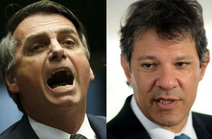 Bolsonaro e Haddad se enfrentam no 2º turno para...