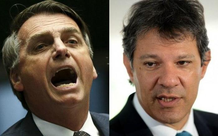 Bolsonaro e Haddad se enfrentam no 2º turno para presidente