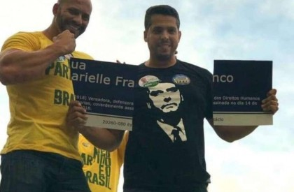 Candidatos do PSL destroem homenagem a Marielle Franco