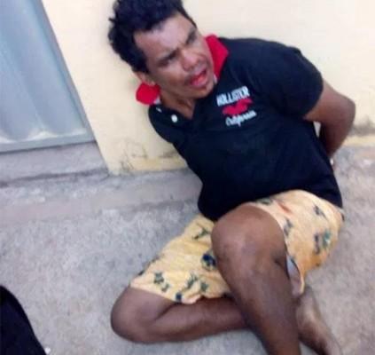 Homem sofre tentativa de linchamento após roubar...