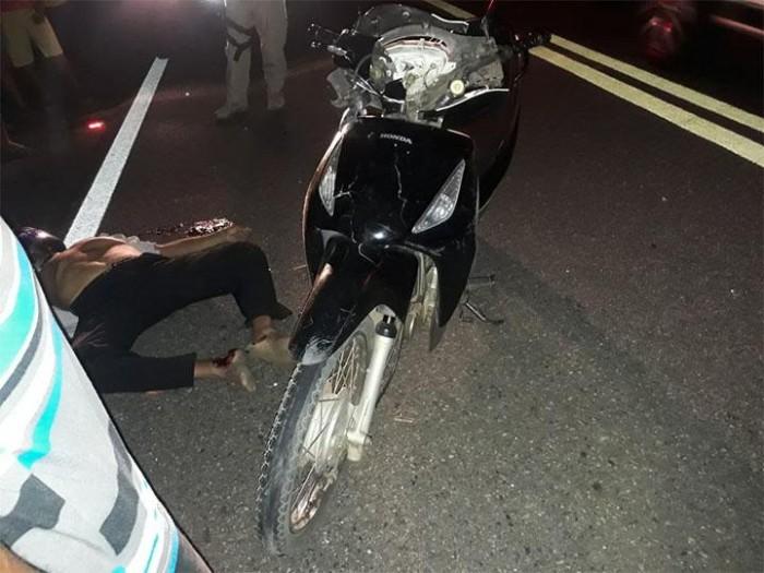 Idoso morre após colidir motocicleta com animal na BR 343