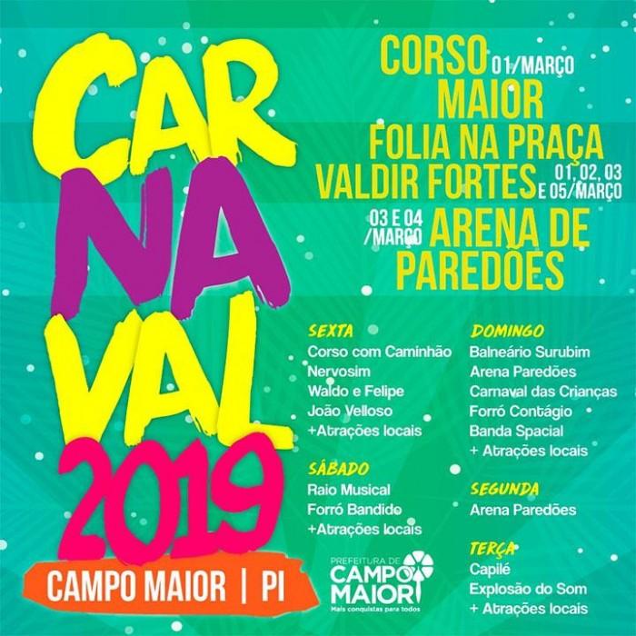 Corso de Campo Maior 2019 terá premiação de 5.000 reais