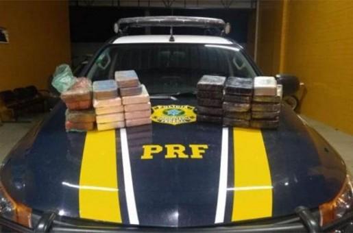 Polícia apreende mais de 32 kg de maconha e prende duas pessoas