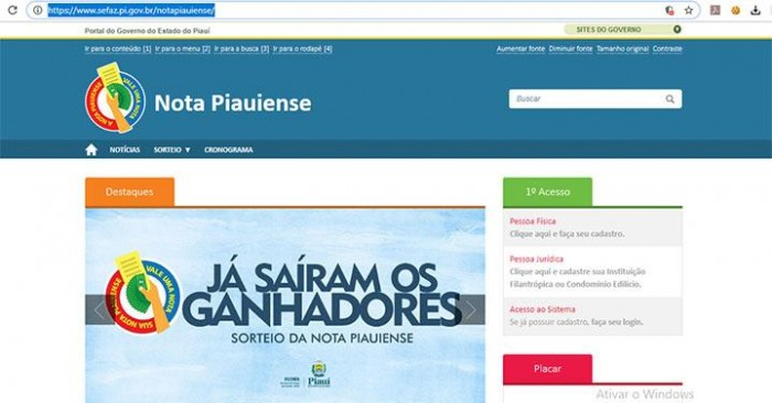 Sefaz divulga lista de ganhadores do 41º sorteio da Nota Piauiense