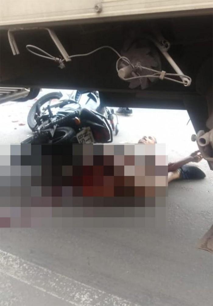 Homem morre após ser atropelado por carreta em Timon