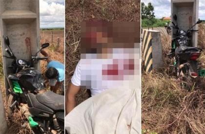 Motociclista morre após colidir com poste em São Pedro do Piauí