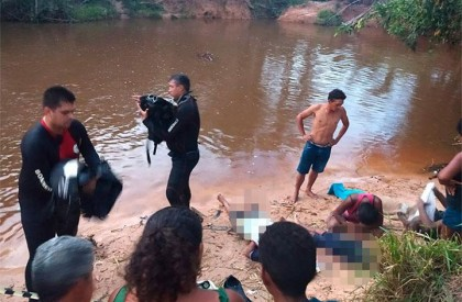 Pai e dois filhos morrem afogados em riacho em Timon