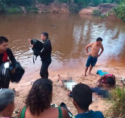 Pai e dois filhos morrem afogados em...