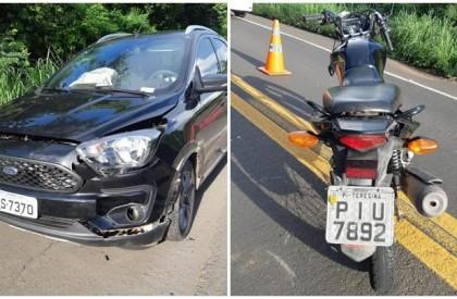 Colisão entre veículo e motocicleta deixa um homem morto