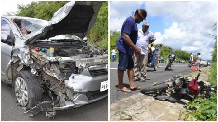 Comerciante morre em grave acidente na BR 343