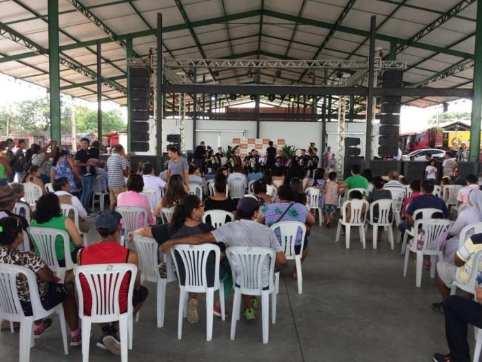 Orquestra Sanfônica fez show na abertura do Forró da Feira