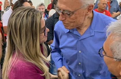 Eduardo Suplicy e Maria Santana estreitam apoio e laços...