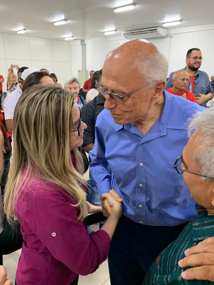 Eduardo Suplicy e Maria Santana estreitam apoio e laços políticos em Picos