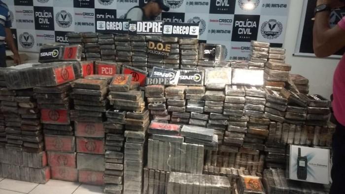 Polícia apreende a maior quantidade de cocaína no Piauí