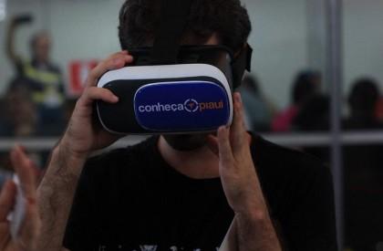 Viagem com óculos de realidade virtual vira sensação no 4º Salão do Turismo